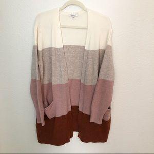 Madewell Colorblock Cardigan Size M